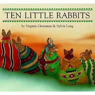 Ten Little Rabbits Board Book by Virginia Grossman