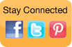 Stay Connected via our Facebook, Twitter and Pinterest pages